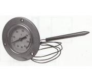 Termometro da incasso in alluminio 0/600°