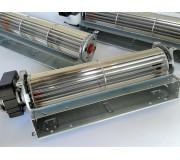 Ventola tangenziale in alluminio.